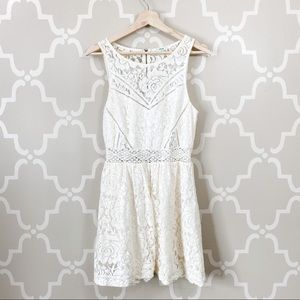 Kimchi Blue Cream Lace Mini Dress